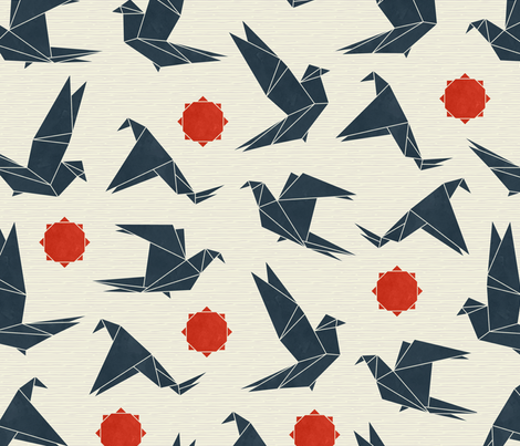 Origami Birds fabric by andie_hanna on Spoonflower - custom fabric