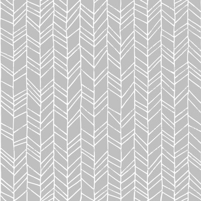 Grey Crazy Chevron Herringbone Gray Hand Drawn Geometric