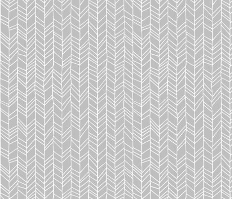 Grey Crazy Chevron Herringbone Gray Hand Drawn Geometric Pattern GingerLous fabric by gingerlous on Spoonflower - custom fabric