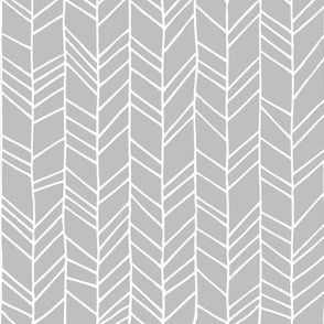 Grey Crazy Chevron Herringbone Gray Hand Drawn Geometric Pattern GingerLous