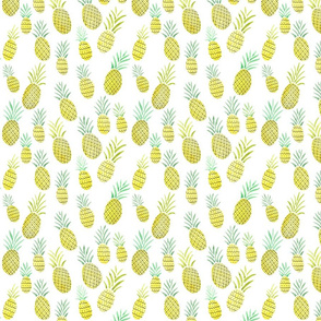 Watercolor Pineapple Pattern