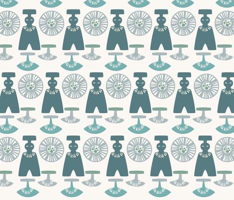 Retro Greenlandic fabric by livaurora on Spoonflower - custom fabric