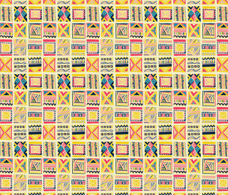 Block Party fabric by sarekaunique on Spoonflower - custom fabric