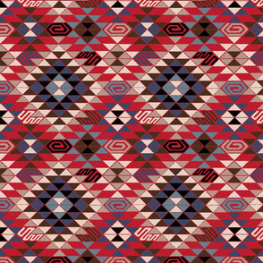 Kilim in Red and Blue