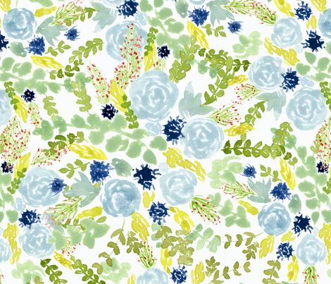 Bouquet fabric by flowie on Spoonflower - custom fabric