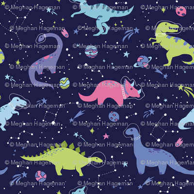 Dinosaurs in Outer Space - Small