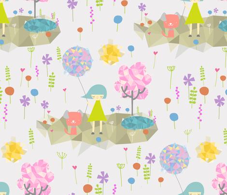 mimi origami  fabric by ningwatson on Spoonflower - custom fabric