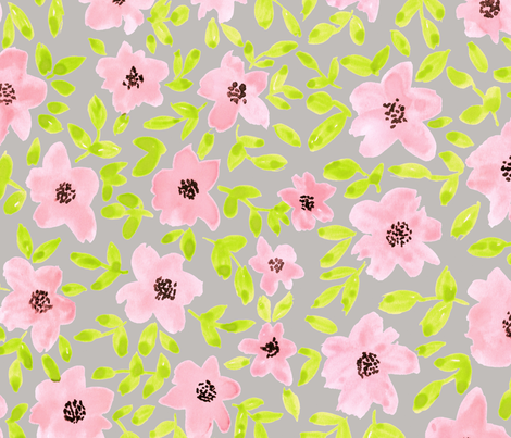 Spring flower fabric by flowie on Spoonflower - custom fabric