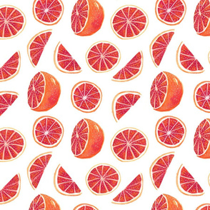 Watercolor Blood Orange
