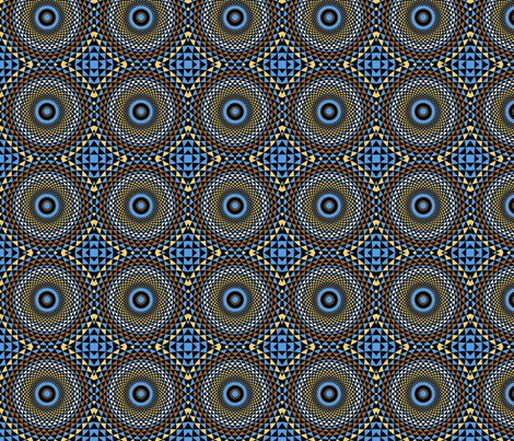 Botswana Basket Mandala fabric by elramsay on Spoonflower - custom fabric