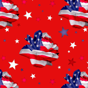 patriotic rose red revised