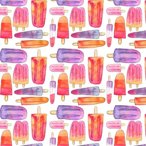 Watercolor Popsicle Pattern