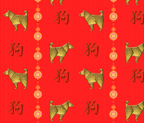 Year_of_the_dog fabric by quizzicalkittydesigns on Spoonflower - custom fabric