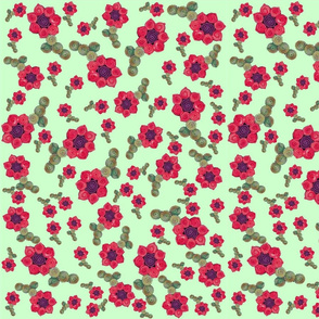 Tumbling Quillie Flowers Green