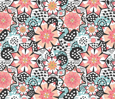 origami lotus blossoms fabric sarahtreu spoonflower