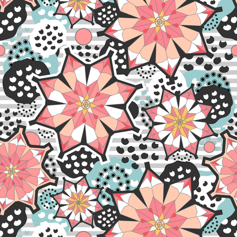Origami Lotus Blossoms fabric by sarah_treu on Spoonflower - custom fabric