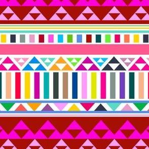 Mountain Stripe Kilim in Rainbow Multi