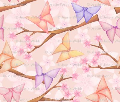 Cherry Blossoms & Butterflies