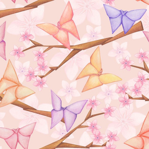 Cherry Blossoms & Butterflies