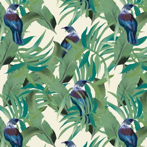 Tui Palm print repeat