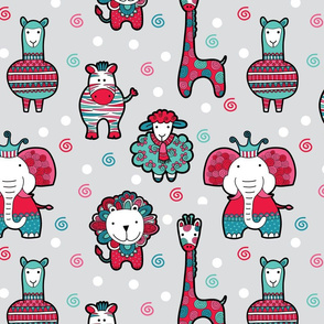 Doodle Critters Grey