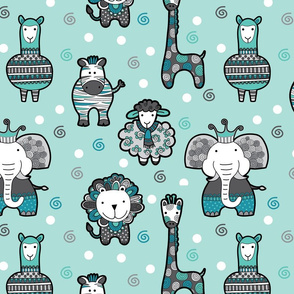 Doodle Critters Green