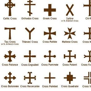Brown Christian Crosses // Large