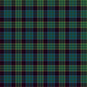 "small Stewart old tartan, 2"", muted colors"