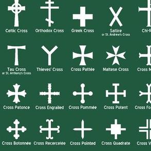 Christian Crosses on Jade // Large