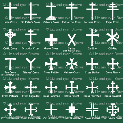 Christian Crosses on Jade // Small