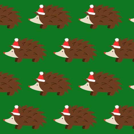 Christmas Hedgehogs fabric by robyriker on Spoonflower - custom fabric