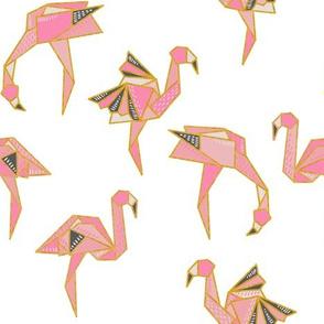 Flamingamis//Origami Flamingos (white)