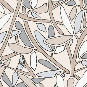 Leaves and Branches, WINTER HUES, LARGE SCALE