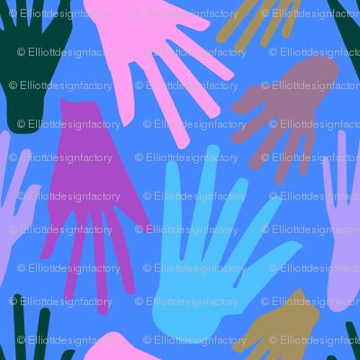 Minimalist Hands in Blue