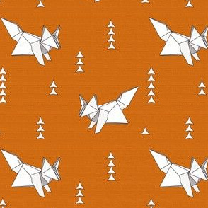 Origami Fox Russet Woodgrain - medium scale