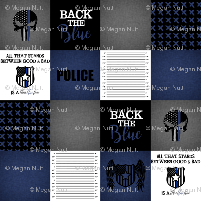 """6"""" Back the Blue (no red)"""