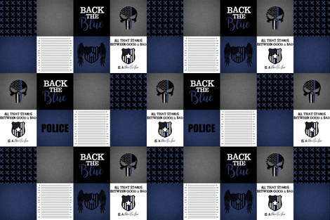 """6"""" Back the Blue (no red) fabric by lacklandacres on Spoonflower - custom fabric"""