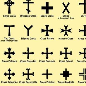 Christian Crosses on Yellow // Large