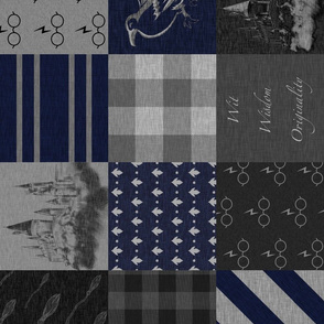 Wit, Wisdom, Originality- Navy and grey - ROTATED