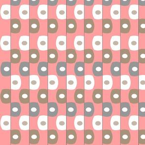 Mid-Century  Pink Geometric