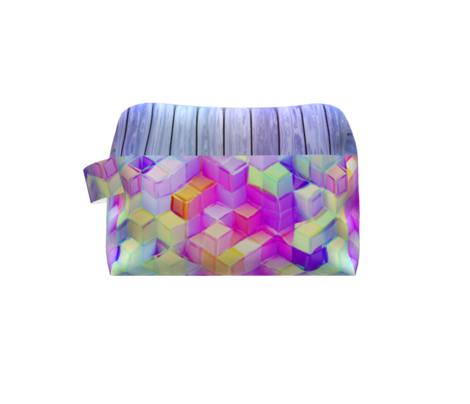 MARSHMALLOW ESCHER MAGIC CUBES CHAOS RAINBOW SPRING MORNING MARIGOLD VIOLET PURPLE AQUA FUCHSIA