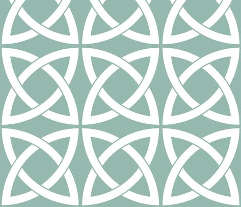 Geometric Trellis in Duck Egg Blue fabric by delinda_graphic_studio on Spoonflower - custom fabric