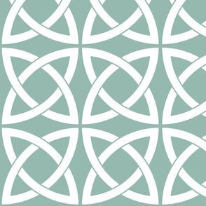 Geometric Trellis in Duck Egg Blue