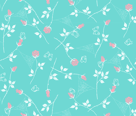 Gossamer and petals - pastel fabric by tuppencehapenny on Spoonflower - custom fabric