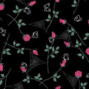 Gossamer and petals - black