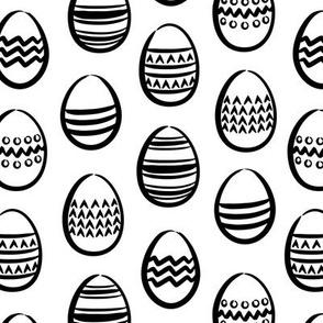 monochrome easter eggs  (white)
