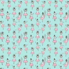 ballet // dancing dancer ballet fabric cute girls music medium  blue (micro print)