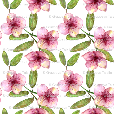 Beautiful delicate seamless pattern with pink flowers watercolor beautiful delicate seamless pattern with pink flowers watercolor drawing mightylinksfo