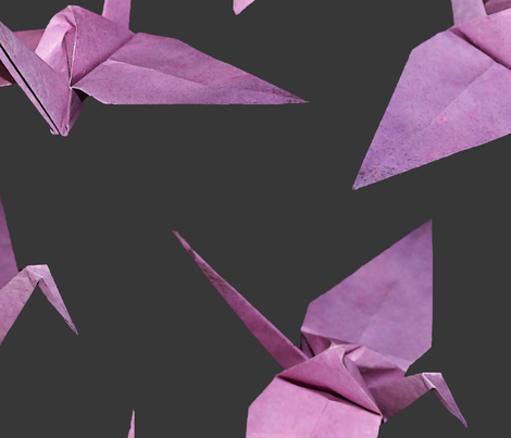 I spy origami cranes (large violet/pink) fabric by elizabethmay on Spoonflower - custom fabric