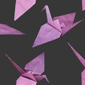 I spy origami cranes (large violet/pink)